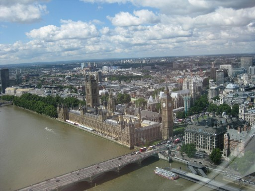 vue london eye londres