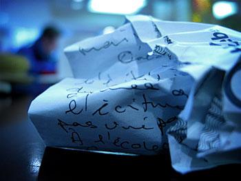 papier chiffoné