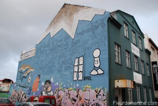 peinture murale Reykjavik