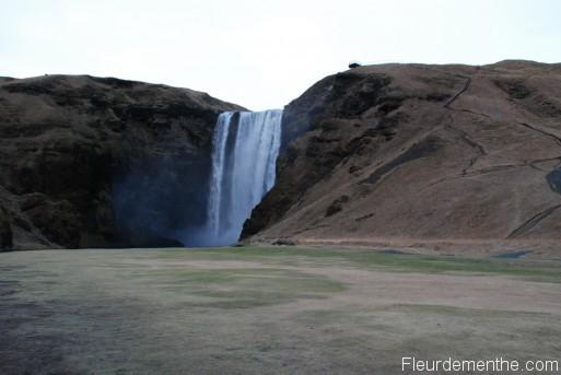 chute d'eau Skógafoss