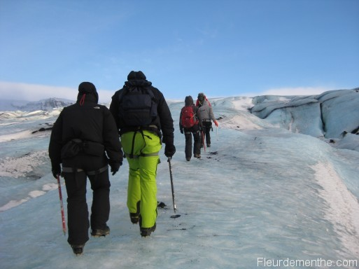 l'excursion sur la glace