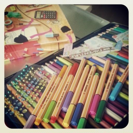 couleurs stylos