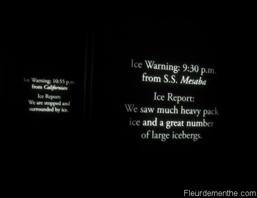 ice warning titanic