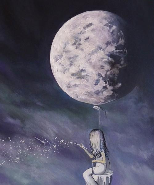 Regarde la lune et les étoiles