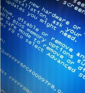 écran bleu erreur ordinateur