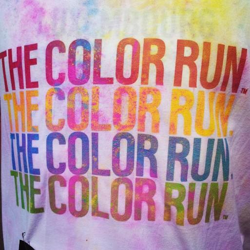 Résultat des courses : un tshirt tout coloré !
