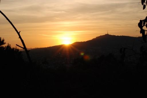 coucher soleil barcelone