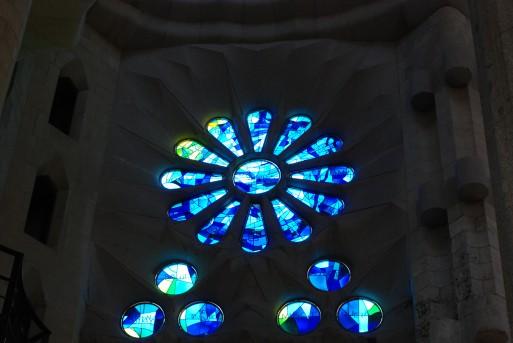vitraux bleu sagrada familia