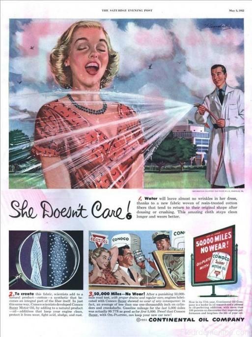 publicite ancienne femme