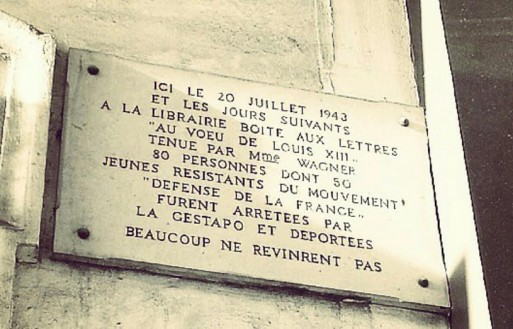 plaque seconde guerre mondiale paris