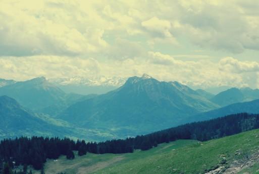 chaîne des alpes région annecy