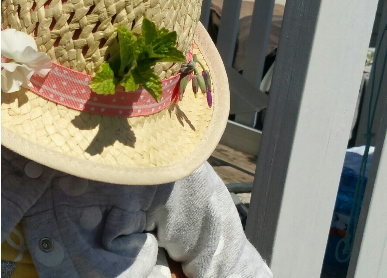 fdm bebe fleurs chapeau